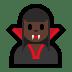 🧛🏿♀️ woman vampire: dark skin tone Emoji on Windows Platform