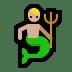 🧜🏼♂️ merman: medium-light skin tone Emoji on Windows Platform