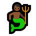 🧜🏾‍♂️ merman: medium-dark skin tone Emoji on Windows Platform