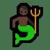 🧜🏿♂️ merman: dark skin tone Emoji on Windows Platform