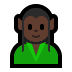 🧝🏿 Dark Skin Tone Elf Emoji on Windows Platform