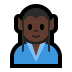🧝🏿‍♂️ man elf: dark skin tone Emoji on Windows Platform