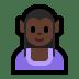 🧝🏿♀️ Dark Skin Tone Female Elf Emoji on Windows Platform