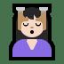 💆🏻 person getting massage: light skin tone Emoji on Windows Platform