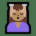 💆🏽 person getting massage: medium skin tone Emoji on Windows Platform
