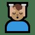 💆🏽♂️ man getting massage: medium skin tone Emoji on Windows Platform