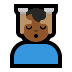 💆🏾‍♂️ man getting massage: medium-dark skin tone Emoji on Windows Platform