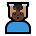 💆🏿‍♂️ man getting massage: dark skin tone Emoji on Windows Platform