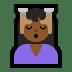 💆🏾♀️ woman getting massage: medium-dark skin tone Emoji on Windows Platform