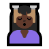 💆🏿‍♀️ woman getting massage: dark skin tone Emoji on Windows Platform