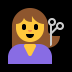 💇 person getting haircut Emoji on Windows Platform