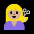 💇🏼 person getting haircut: medium-light skin tone Emoji on Windows Platform
