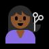 💇🏾 person getting haircut: medium-dark skin tone Emoji on Windows Platform