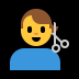 💇‍♂️ man getting haircut Emoji on Windows Platform