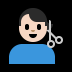 💇🏻‍♂️ man getting haircut: light skin tone Emoji on Windows Platform