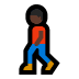 🚶🏿 person walking: dark skin tone Emoji on Windows Platform