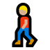 🚶🏼♂️ man walking: medium-light skin tone Emoji on Windows Platform