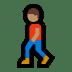 🚶🏽♂️ man walking: medium skin tone Emoji on Windows Platform