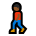 🚶🏾‍♂️ man walking: medium-dark skin tone Emoji on Windows Platform