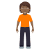 🧍🏾 person standing: medium-dark skin tone Emoji on Windows Platform