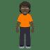 🧍🏿 person standing: dark skin tone Emoji on Windows Platform