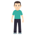 🧍🏻♂️ man standing: light skin tone Emoji on Windows Platform