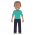 🧍🏽‍♂️ man standing: medium skin tone Emoji on Windows Platform