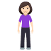 🧍🏻♀️ woman standing: light skin tone Emoji on Windows Platform