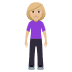 🧍🏼‍♀️ woman standing: medium-light skin tone Emoji on Windows Platform