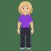 🧍🏼♀️ woman standing: medium-light skin tone Emoji on Windows Platform