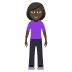 🧍🏿‍♀️ woman standing: dark skin tone Emoji on Windows Platform