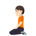 🧎🏻 person kneeling: light skin tone Emoji on Windows Platform