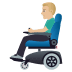 👨🏼🦼 man in motorized wheelchair: medium-light skin tone Emoji on Windows Platform