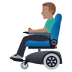 👨🏽‍🦼 man in motorized wheelchair: medium skin tone Emoji on Windows Platform