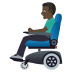 👨🏿‍🦼 man in motorized wheelchair: dark skin tone Emoji on Windows Platform