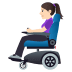 👩🏻‍🦼 Light Skin Tone Woman In Motorized Wheelchair Emoji on Windows Platform