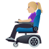 👩🏼‍🦼 woman in motorized wheelchair: medium-light skin tone Emoji on Windows Platform