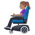 👩🏽‍🦼 woman in motorized wheelchair: medium skin tone Emoji on Windows Platform