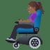 👩🏾🦼 woman in motorized wheelchair: medium-dark skin tone Emoji on Windows Platform