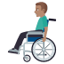 👨🏽🦽 man in manual wheelchair: medium skin tone Emoji on Windows Platform