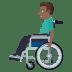 👨🏾🦽 man in manual wheelchair: medium-dark skin tone Emoji on Windows Platform