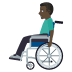 👨🏿🦽 man in manual wheelchair: dark skin tone Emoji on Windows Platform