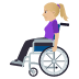👩🏼🦽 woman in manual wheelchair: medium-light skin tone Emoji on Windows Platform
