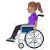 👩🏽‍🦽 woman in manual wheelchair: medium skin tone Emoji on Windows Platform