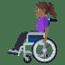 👩🏾🦽 woman in manual wheelchair: medium-dark skin tone Emoji on Windows Platform