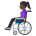 👩🏿‍🦽 woman in manual wheelchair: dark skin tone Emoji on Windows Platform