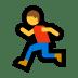 🏃 Person Running Emoji on Windows Platform