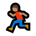 🏃🏽 person running: medium skin tone Emoji on Windows Platform