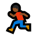 🏃🏾 person running: medium-dark skin tone Emoji on Windows Platform