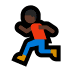 🏃🏿 person running: dark skin tone Emoji on Windows Platform